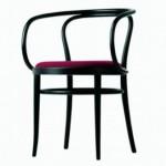 Fauteuil bois courbé noir assise cuir gris /4 X l'unité  TTC 996€ soldé 650€